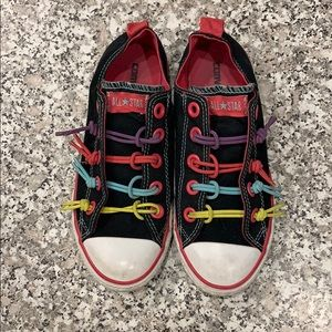 All Star Converse girls size 3 rainbow shoes